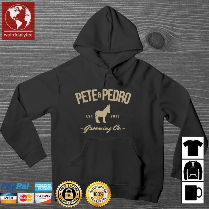 Pete and pedro est 2013 grooming co Wolrddailytee hoodie den